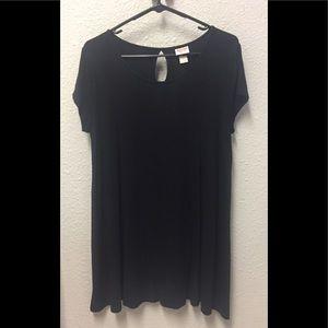 Mossimo Supply Co. black t-shirt/dress, size large
